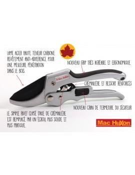 Sécateur à crémaillère Mac Huxon
